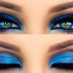 Как правильно подобрать вечерний макияж для голубых глаз